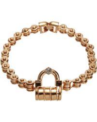 Mawi | Rose Gold Padlock Choker | Lyst