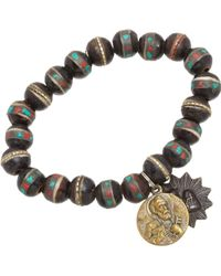 Miracle Icons - Turquoise Coral Inlay Icon Bracelet - Lyst