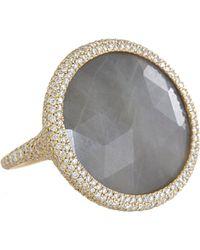 Monique Pean Atelier - Diamond Grey Sapphire Oval Ring - Lyst