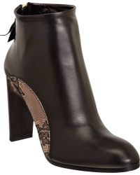 Nina Ricci | Lace Inset Ankle Boot | Lyst