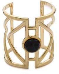 Pamela Love - Pathway Cuff Bracelet - Brass/Moonstone - Lyst