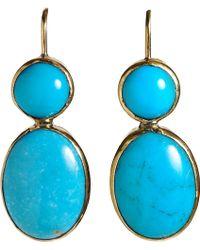 Sandra Dini - Turquoise Drop Earrings - Lyst