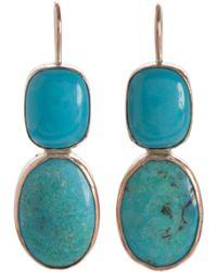 Sandra Dini - Turquoise Earrings - Lyst