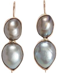 Sandra Dini - Grey Pearl Shell Earrings - Lyst
