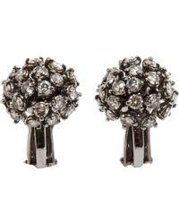 Sidney Garber - Diamond Rhodium Starburst Earrings - Lyst
