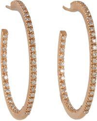 Sidney Garber - Diamond Rose Gold Petite Perfect Round Hoop Earrings - Lyst