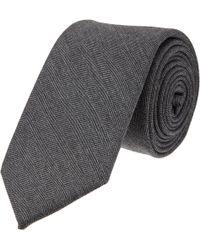 Thom Grey - Herringbone Tie - Lyst