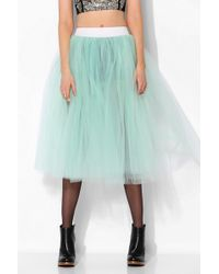 Urban Outfitters  Renewal Tulle Midi Skirt - Lyst