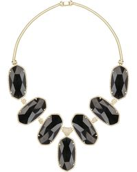 Kendra Scott Large Black Tourmaline Bib Necklace - Lyst