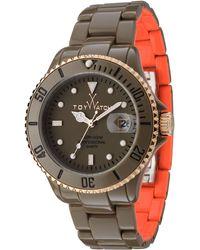Toy Watch - Toymrhyde Twotone Plasteramic Watch Oliveorange - Lyst