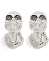 Alexander McQueen Crystal Skull Cufflinks - Lyst