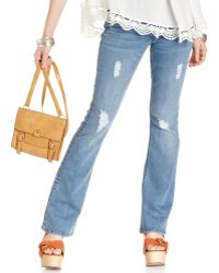 American Rag - Destroyed Bootcut Jeans - Lyst