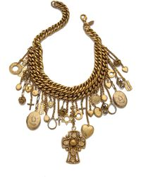 Erickson Beamon Chain Charm Necklace - Gold - Lyst