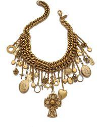Erickson Beamon Chain Charm Necklace - Gold - Lyst