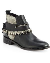 Frēda Salvador Star Leather Ankle Boots - Lyst
