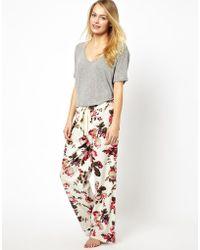 Joules - Fleur Print Pyjama Bottoms - Lyst
