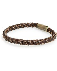 Mango | Magnet Braided Leather Bracelet | Lyst