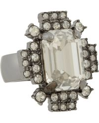 Mawi - Hematite Crystal Geometric Ring - Lyst