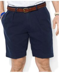 Polo Ralph Lauren Core Classic-Fit Pleated Chino Shorts - Lyst