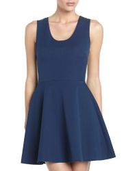 Robert Rodriguez Leatherback Flare Dress Cadet 8 - Lyst