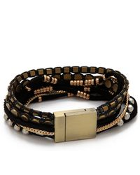 Serefina - Suede Magnetic Cuff Bracelet - Lyst