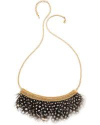 Serefina - Feather Bib Necklace - Lyst
