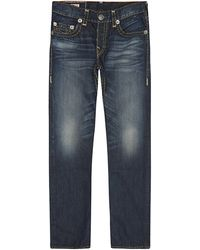 True Religion Slightly Distressed Vintage Tapered Jeans - Lyst
