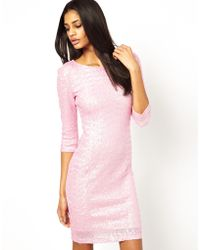 TFNC Long Sleeve Sequin Dress - Lyst
