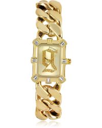 John Galliano - Gold Tone Stainless Steel Women'S Watch - Lyst