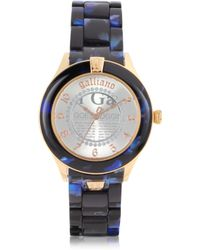 John Galliano - Pictural Stainless Steel and Resin Womens Watch - Lyst