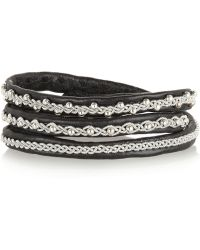 Maria Rudman - Agnetha Embroidered Leather Wrap Bracelet - Lyst