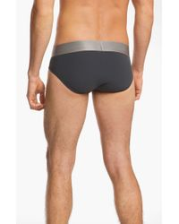 Calvin Klein Men'S 'Steel - U2715' Microfiber Hip Briefs - Lyst