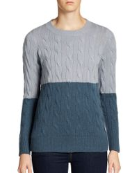 Christopher Fischer Two-tone Cashmere Sweater - Lyst