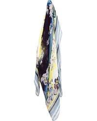 Erdem - Eames Floral Printed Silk Gauze Scarf - Lyst