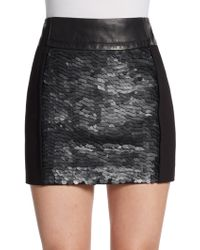 Kelly Wearstler | Caviar Mixed Media Skirt | Lyst