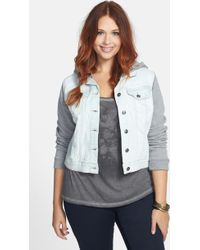 Jessica Simpson | Pixie Hooded Crop Jacket | Lyst