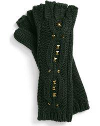 Steve Madden Stud Muffin Fingerless Gloves - Lyst