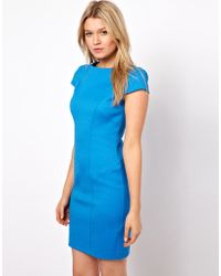 Oasis Blue Pencil Dress - Lyst