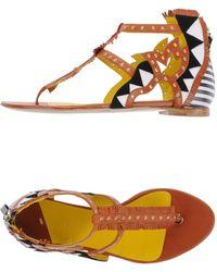 Daniele Michetti - Cut-Out Leather Sandals - Lyst