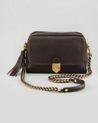 Eric Javits Leather Ziptop Shoulder Bag Chocolate brown - Lyst