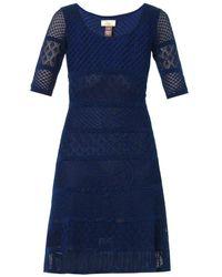 Issa Pointelle Stripe Dress - Lyst