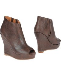 Jeffrey Campbell Leather Ankle Boot - Lyst