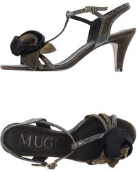 Mugnai High-Heeled Sandals - Lyst