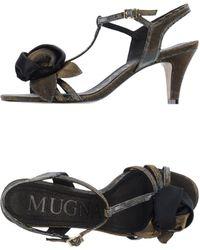 Mugnai High-Heeled Sandals - Lyst