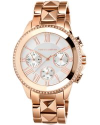 Vince Camuto - Womens Pyramid Stud Rose Goldtone Stainless Steel Bracelet Watch 42mm Vc - Lyst