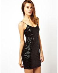 Asos Sequin Cami Mini Dress - Lyst