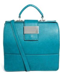 Asos Handheld Bag with Chunky Front Metal Plate - Lyst