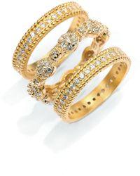 Belargo - Pavã Scalloped Stackable Ring Set - Lyst