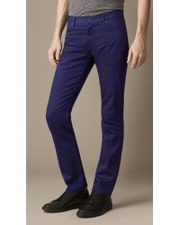 Burberry Steadman Piecedyed Slim Fit Jeans - Lyst