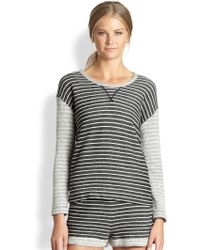 Cardigan | Colette Striped Cotton Terry Sweatshirt | Lyst